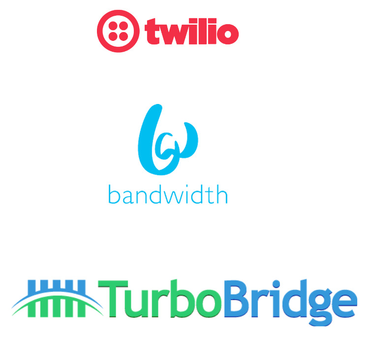 SourceLogix has expertise in integration with Twillo, Bandwidth and TurboBridge